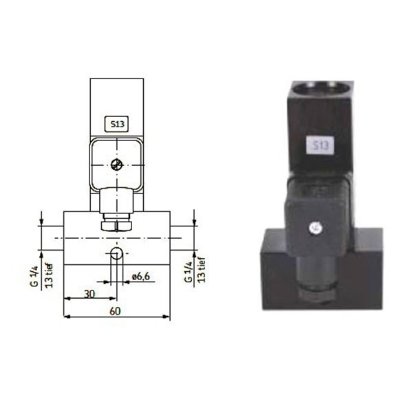 Vogel Pressure switch DSB for grease NLGI 1-2