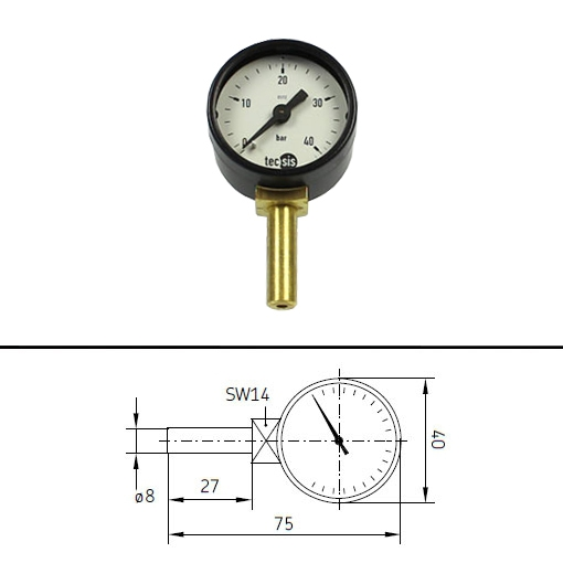 SKF Manometer for central lubrication pumps