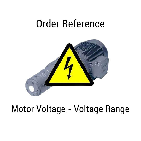 Motor voltage - Order reference - Voltage range
