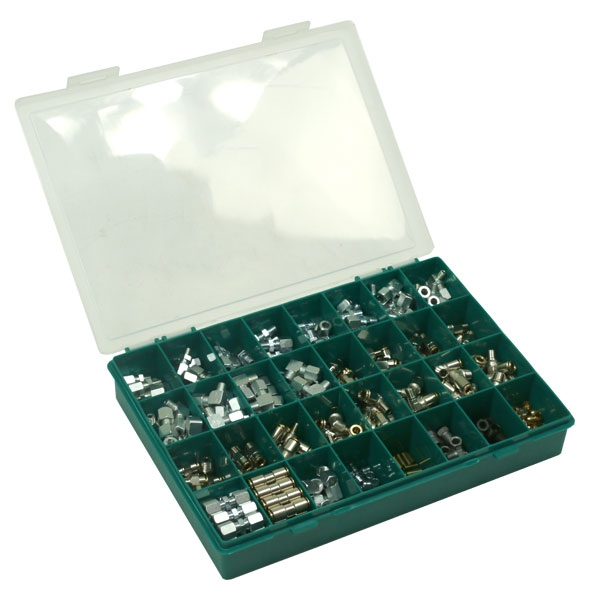 Assortment box with 530 fittings