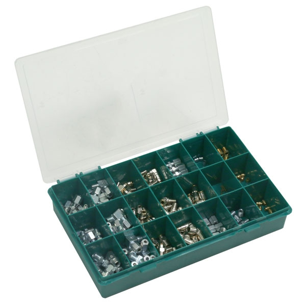 Assortment box with various fittings for Ø 4 mm