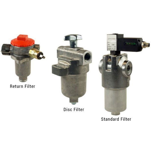 Standard filter, disc filter, return filter