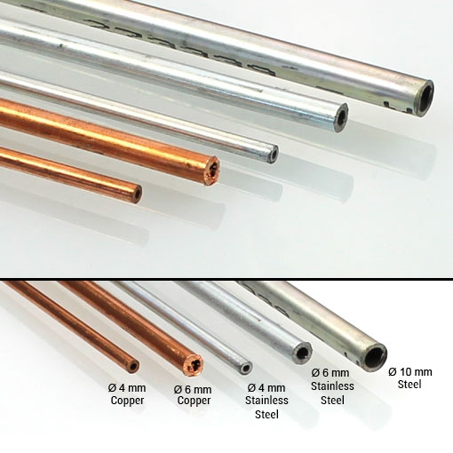 Steel pipe - Stainless steel pipe - Copper pipe