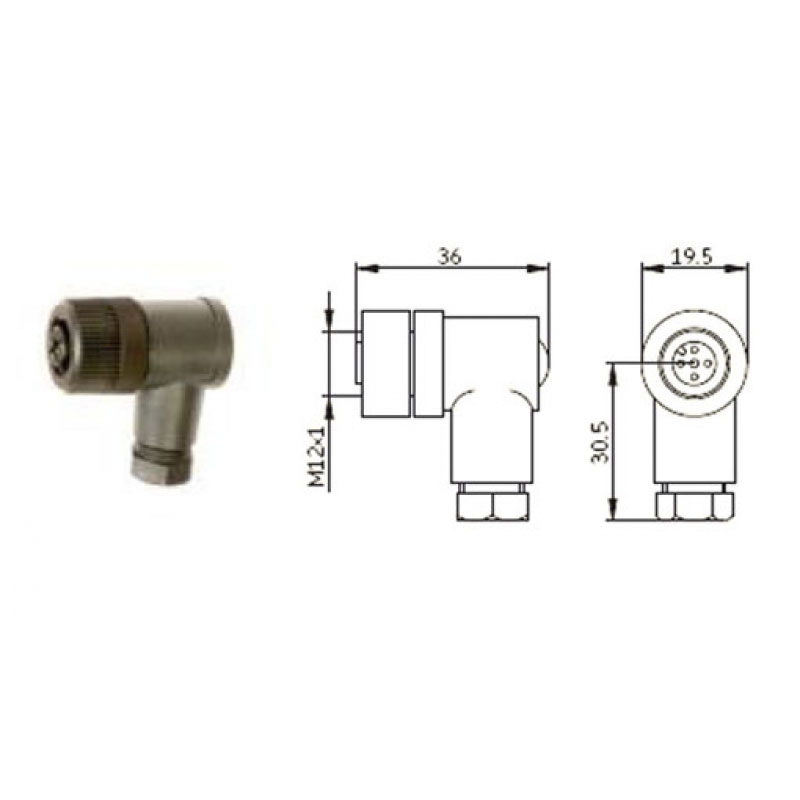 SKF Socket M12x1 - Version B