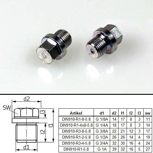 Vogel Screw plugs sealed by flat washer