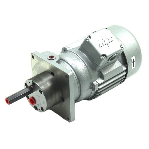 Gear pump with flange