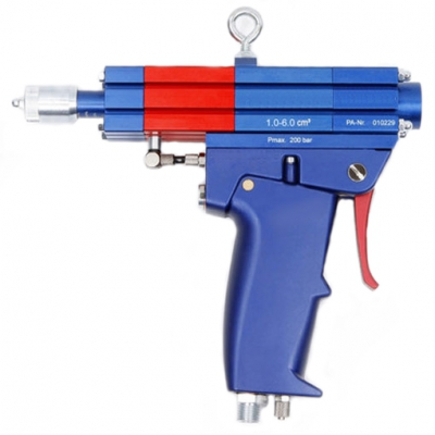 Grease metering valve with volume preselection - horizontal hand grip - 1.00 to 6.00 cm³
