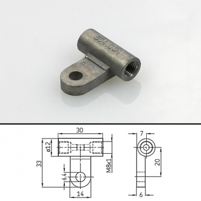 SKF - Bracketed connector for pipe Ø 4 mm