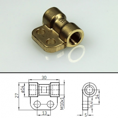 Vogel Bracketed connector for pipe Ø 6 mm