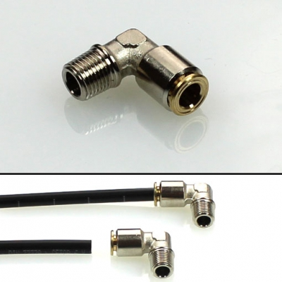 Elbow screw fitting - pluggable